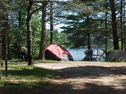Campers at Pike Lake