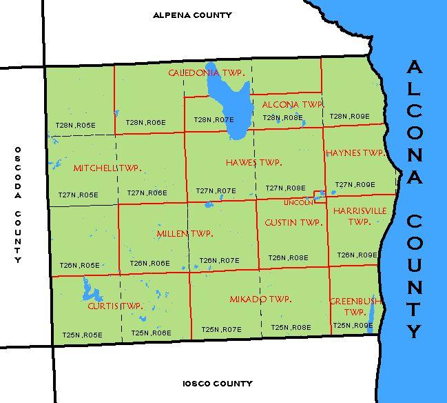CF Map - Alcona Countyalcona county