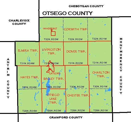 Otsego County Tax Map CF Map   Otsego County
