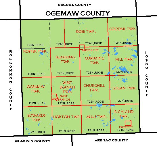 Download CF map for entire county: Ogemaw County CF Map