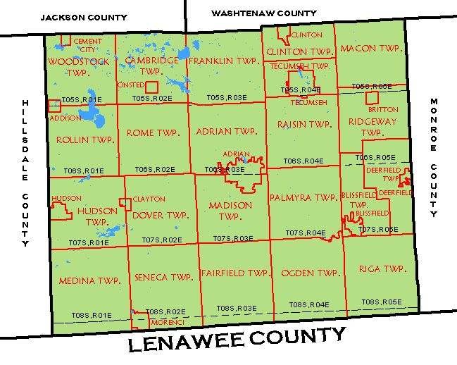 CF Map - Lenawee County