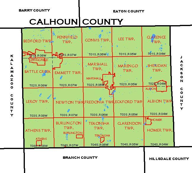 Cf Map Calhoun County