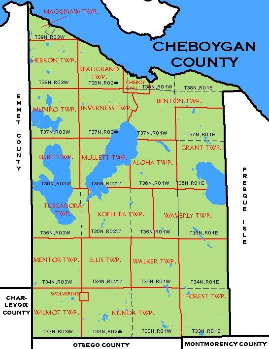 CF Map Cheboygan County