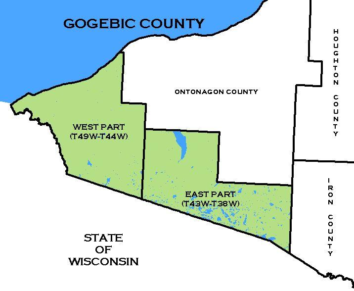 Cf Map Gogebic County