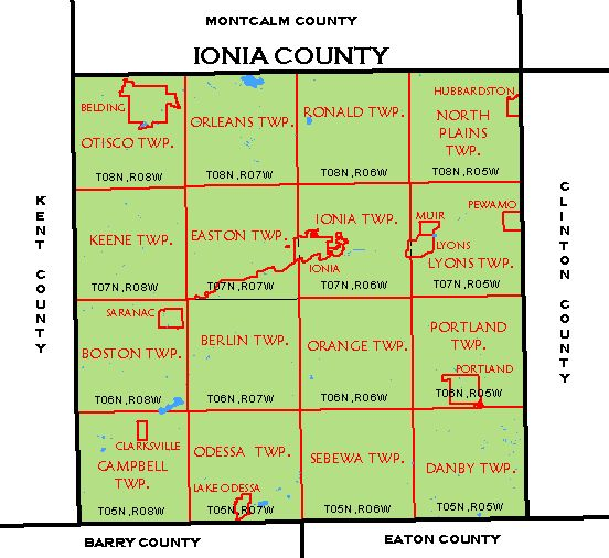 Cf Map Ionia County